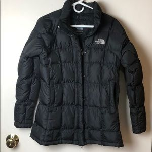 North Face Black 600 puffer winter coat